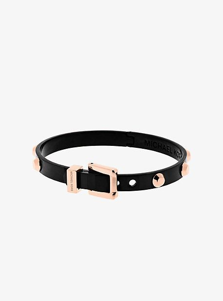 a5dff881c995 Michael Kors Astor Rose Gold-Tone And Black-Tone Buckle Bangle ...