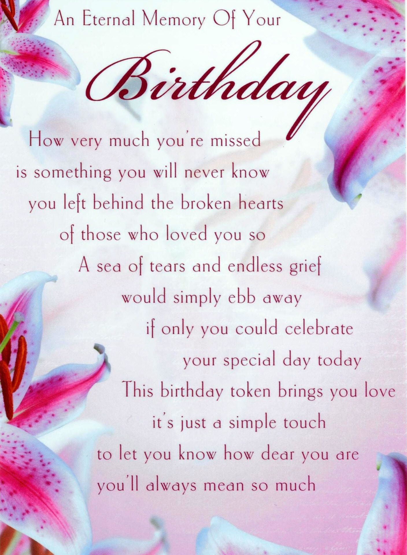 Happy Birthday Poem For A Mom That Passed Away Happy Birthday Son In Heaven Quote