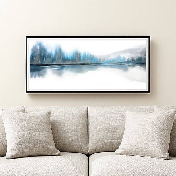 Extra Grote Muur Kunst Wintertaling Blauw Grijs Wit Etsy Extra Large Wall Art Horizontal Wall Art Large Wall Art