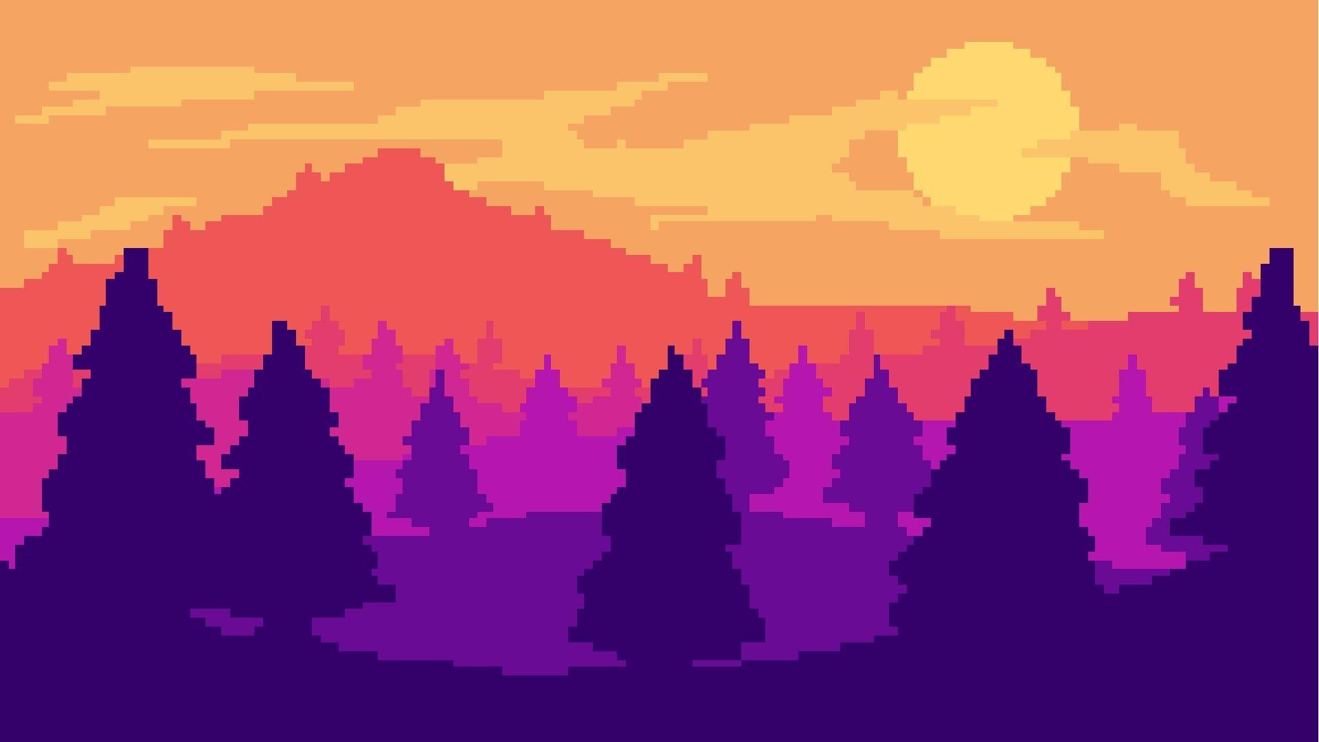 Pixel Art Landscape By Pixel Art Landscape Pixel Art Background Pixel Art