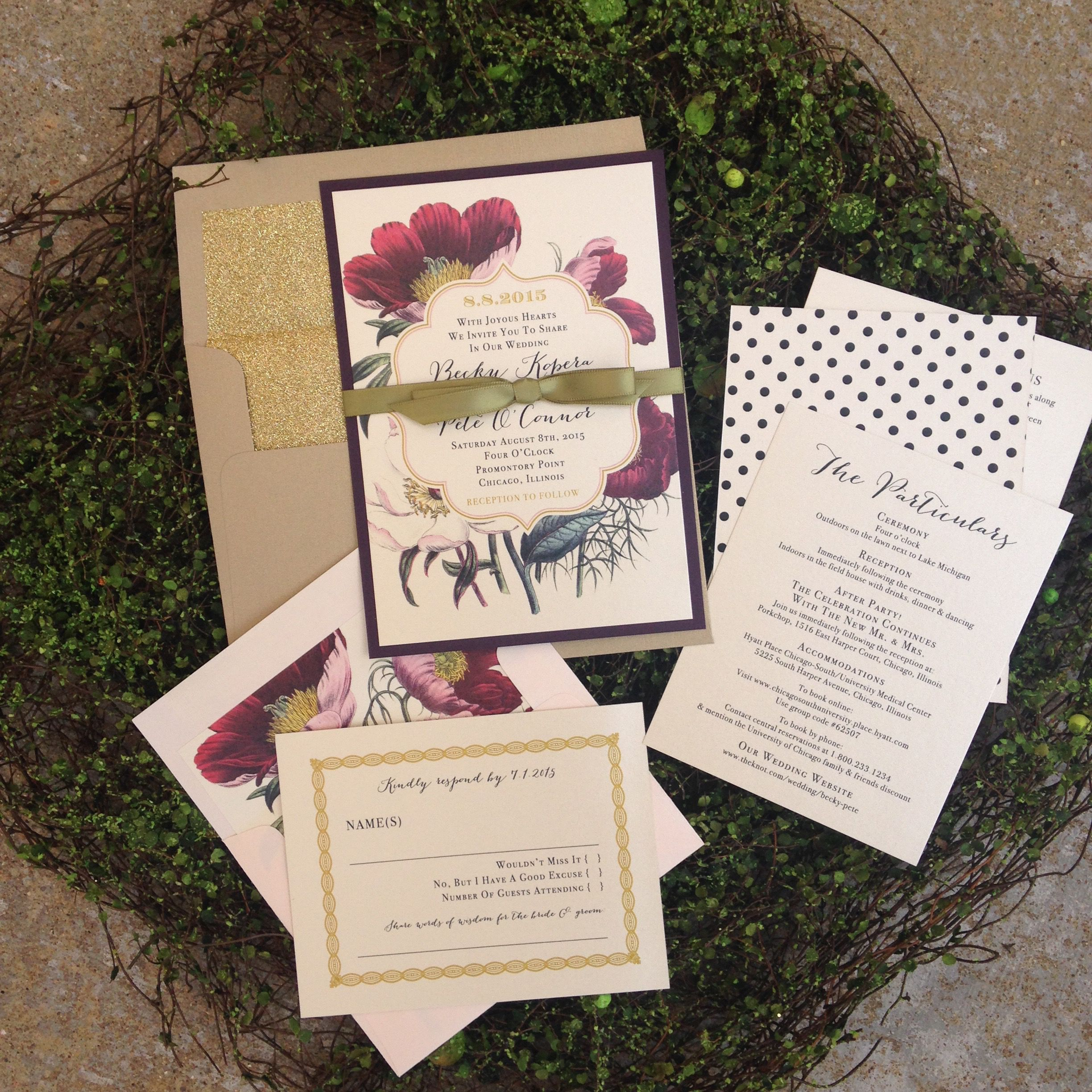 From Wedding Invitations To Ceremony Programs, Set The
