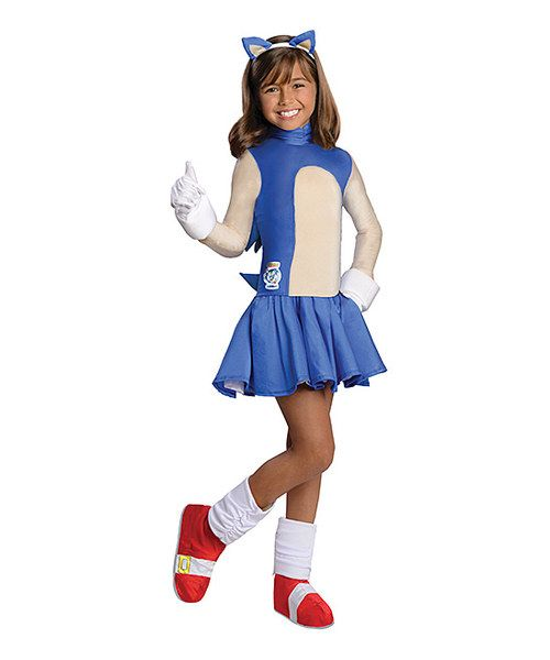 Sonic Boom Girl Hedgehog Sega Video Game Fancy Dress Halloween Child Costume