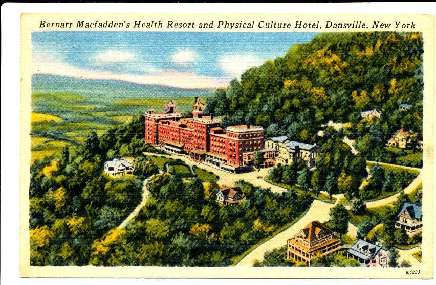 Dansville Ny Bernarr Macfadden S Health Resort And Physical Culture Hotel 1953