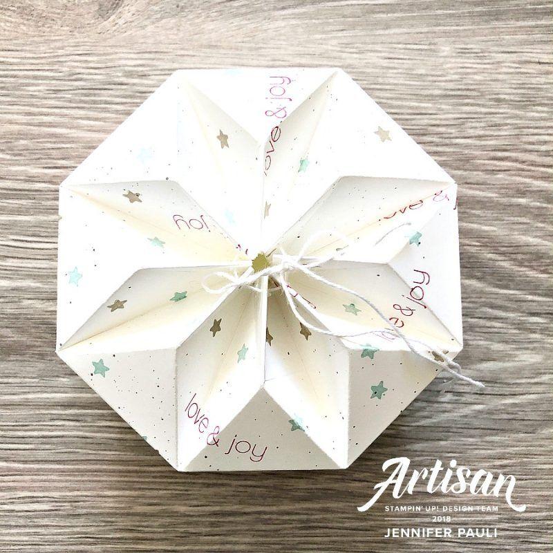 """Origami Box """"Stern"""" mit Anleitung #geschenkboxbasteln"""