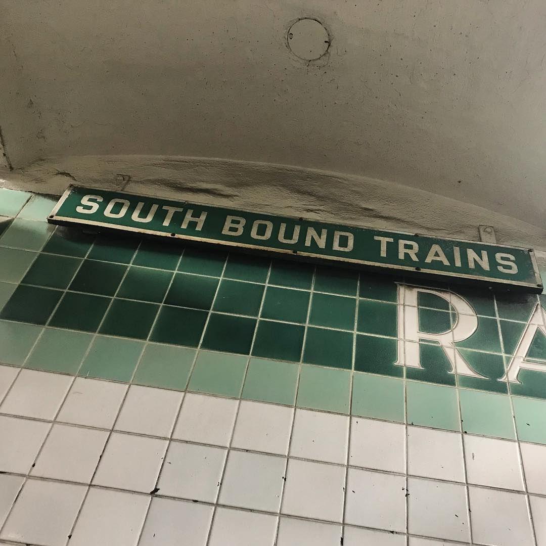 I Only Love Vintage Train Station Signs Philadelphia Septa Rail Subway