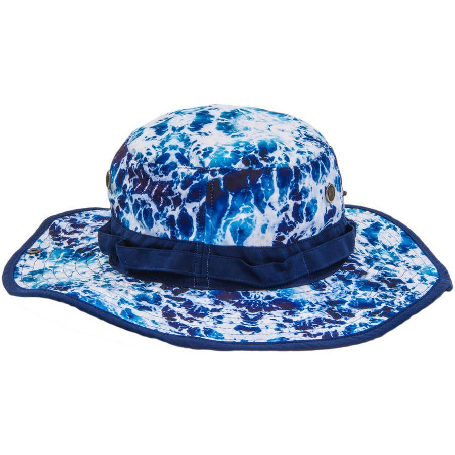 48606222bb4 Blue Tie Dye Wave Boonie Hat Bucket L XL Men s  ConceptOne  BoonieHat