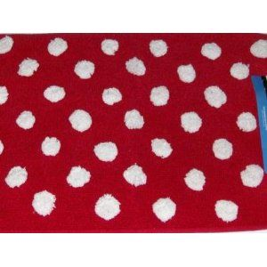 Yay I Found A Red Polka Dot Rug This So Going In My Kitchen Right In Front Of The Sink Polka Dot Rug Red Polka Dot Throw Rugs