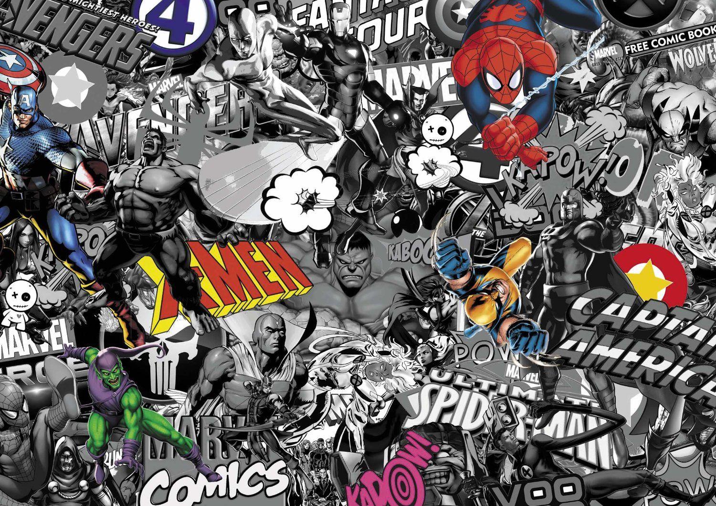 Marvel comic stickerbomb superhero euro jdm vinyl car sticker sheet sticker bomb black white with colour amazon co uk car motorbike