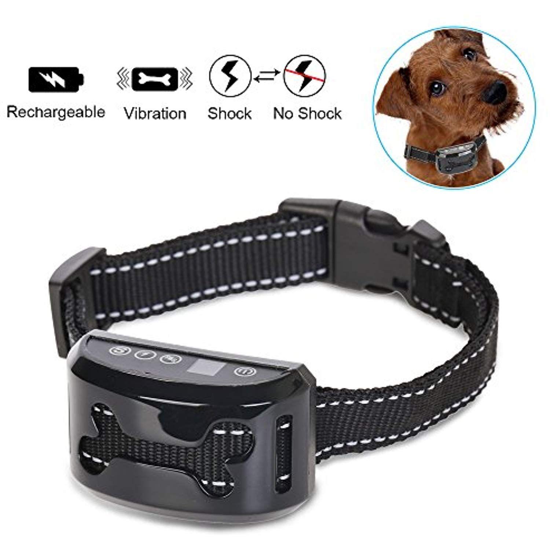 REXWAY Automatic No Bark Dog Collar, Safe Shock/Vibration