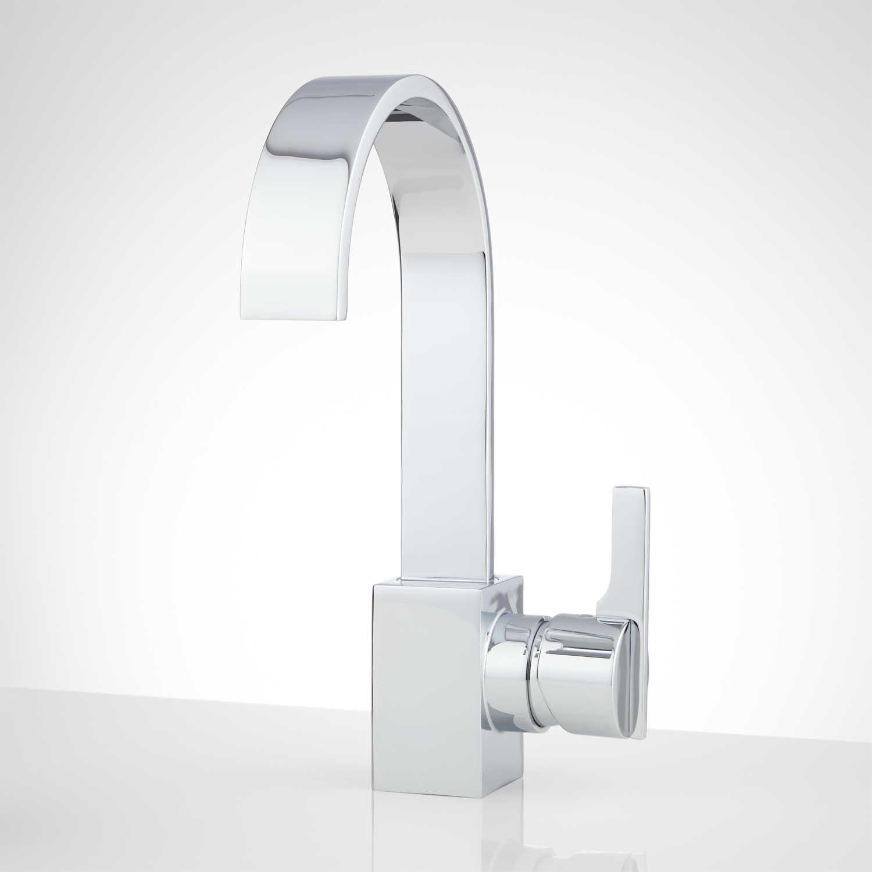 Square Polished Travertine Vessel Sink - Vessel Sinks - Bathroom ...
