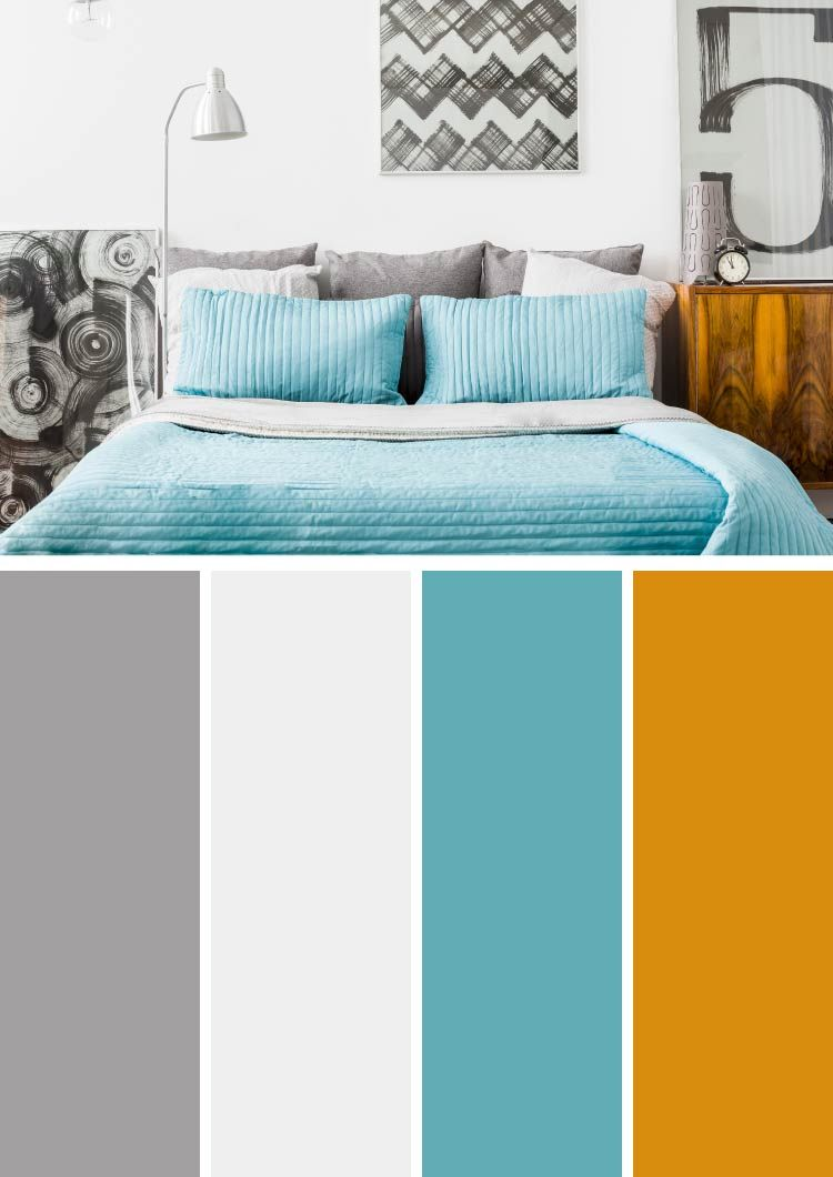 99 Unique Color Combinations To Reflect Your Style #graybedroomwithpopofcolor