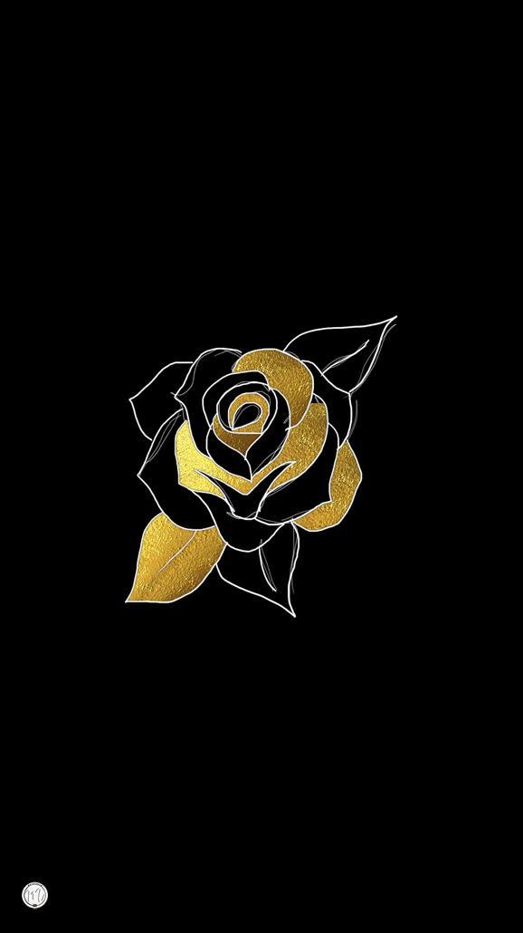 Black And Gold Black Wallpapers Tumblr Rose Flower Wallpaper Bling Wallpaper