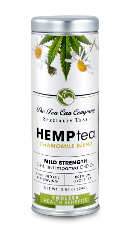 Hemp Tea Mild Strength Chamomile Blend | CBD Oil Infused Tea
