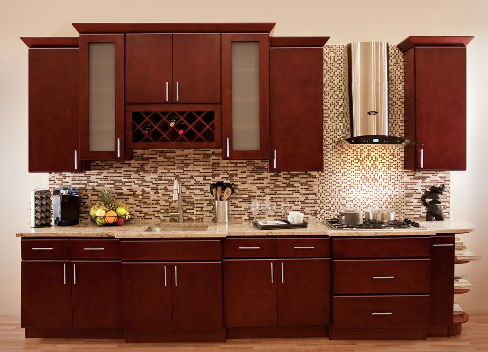 Astonishing Details About 96 Kitchen Cabinets Cherryville All Wood Complete Home Design Collection Barbaintelli Responsecom