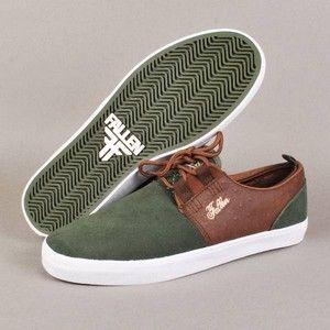 541ca3af8a62f Fallen Shoes Mens Capitol Shoe Surplus Green Saddle Brown ...