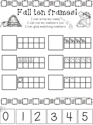 Rowdy in Room 300: Ten frames! | Preschool math, Fall math ...