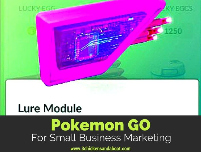 Pokemon Go for small business marketing | 3 chickens and a boat.com