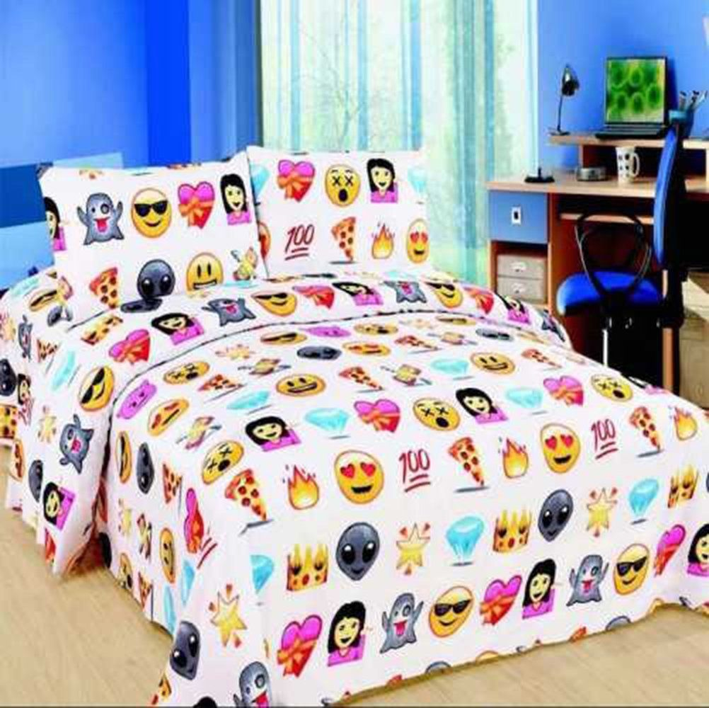 Bettwäsche Smiley Emoji Design Duvet Cover With Matching Pillow Case Bedding Set