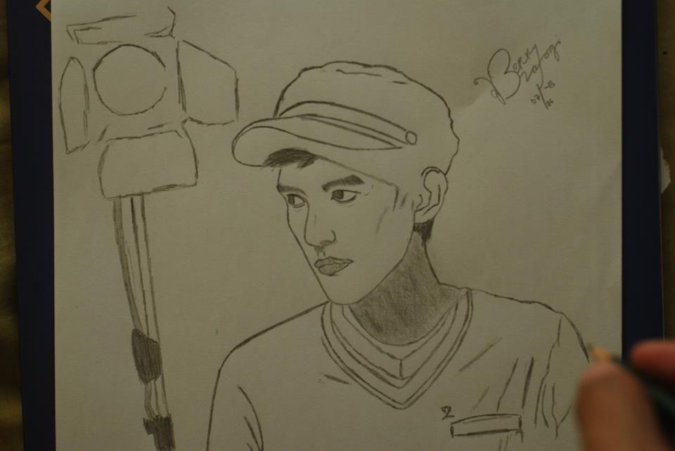 Line Art Wajah : Sekali kali buat sketsa wajah tampan sendiri boleh dong b