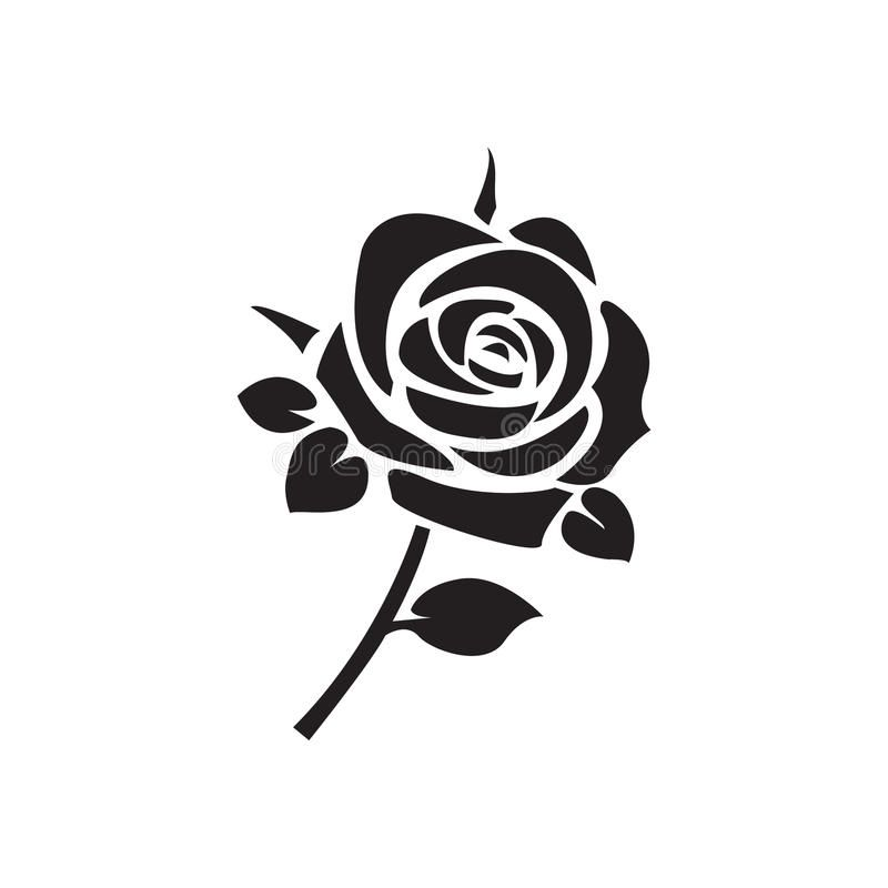 Flat Black Rose Icon Simple Flat Black Rose Icon Vector Sponsored Rose Black Flat Icon Vector Ad Rose Icon Roses Drawing Black Rose