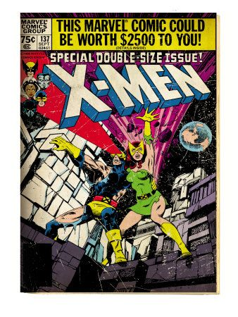 Marvel Comics Retro The X Men Comic Book Cover 137 Phoenix Colossus Aged Xmen Comics Comic Book Covers Marvel Comic Books