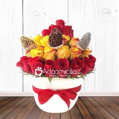 Flores Cali Dulce Gaby Con Fresas Pedido Con 1 Día
