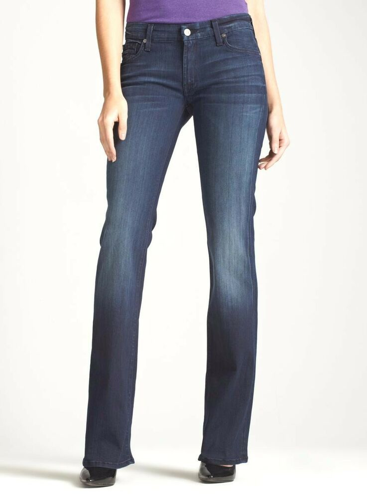 New Ladies 7 For All Mankind Kaylie Stretch Bootcut Jean Size 29