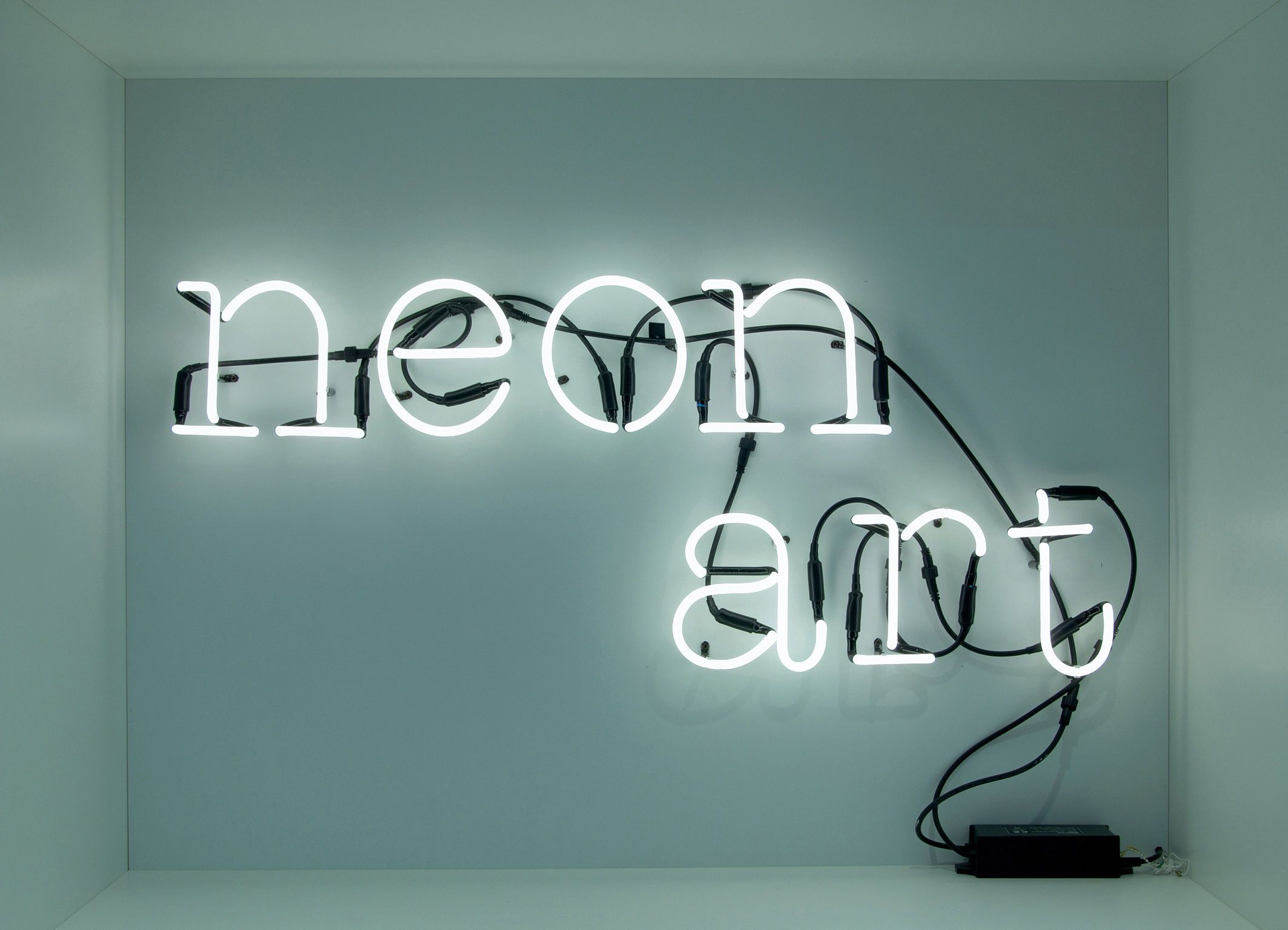 Applique neon art composition lettres art seletti en