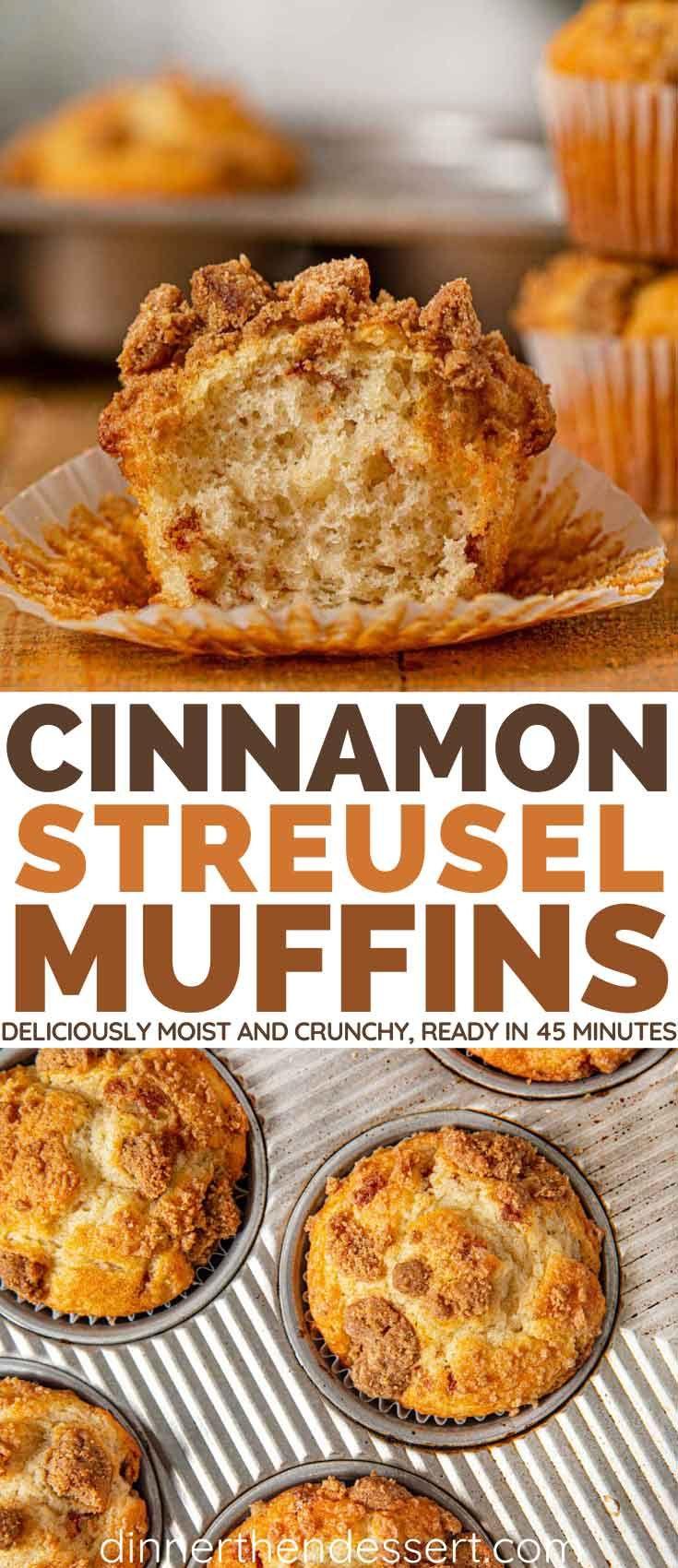Cinnamon Streusel Muffin Recipe (Coffee Cake) - Dinner, then Dessert