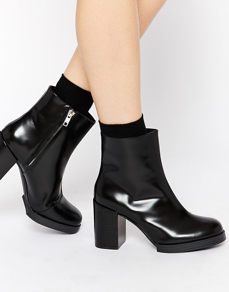 Image 1 of Cheap Monday Layer Leather Ankle Boots | shoes, shoes ...