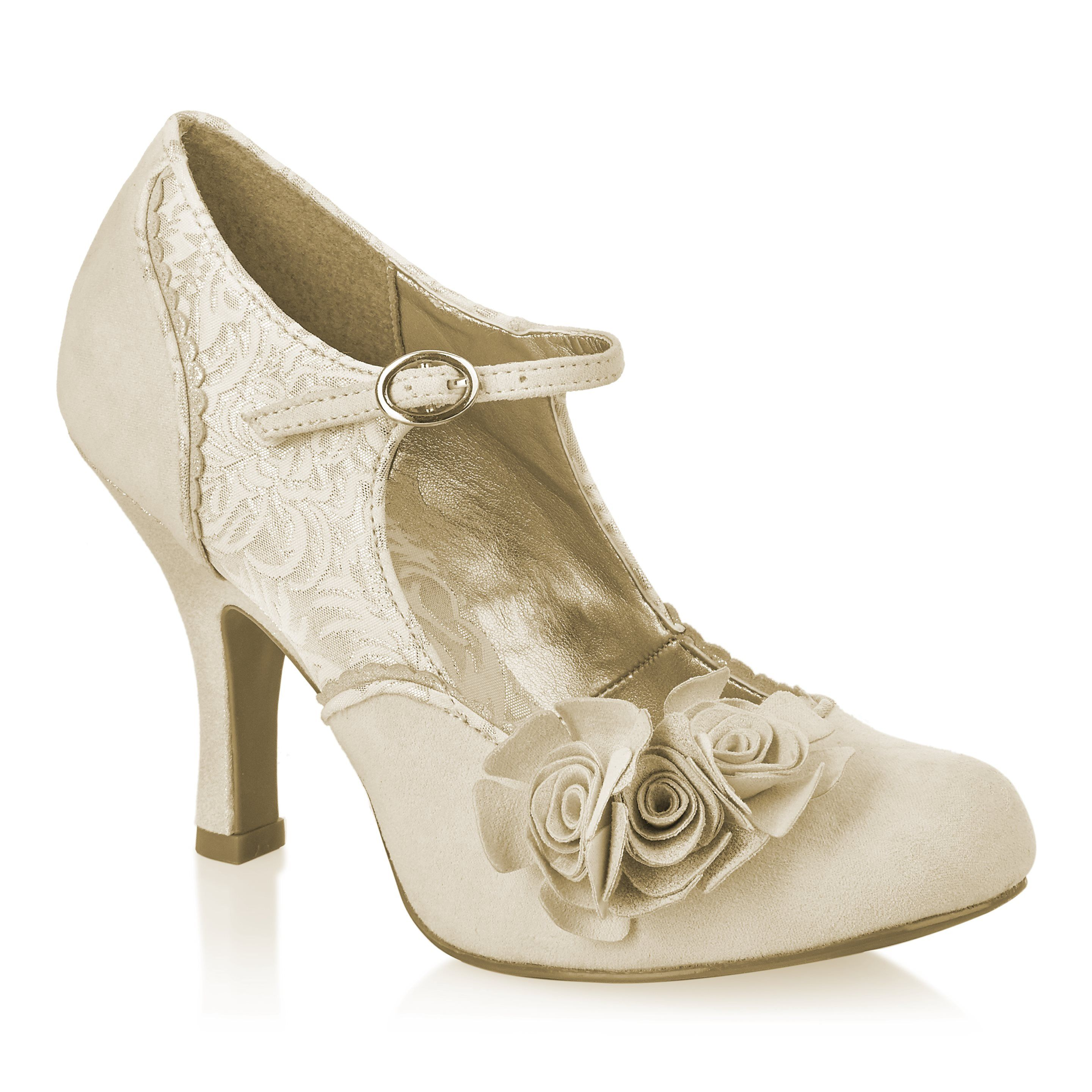 Look what I found on PurpleTag.ie: Ruby Shoo - Emily Cream/Gold Shoes
