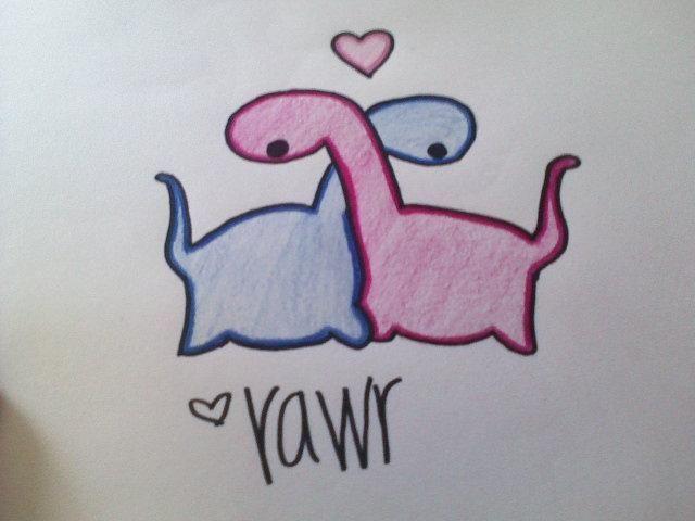 Dinosaur love by ~dynamicdinosaurdisco on deviantART in ...