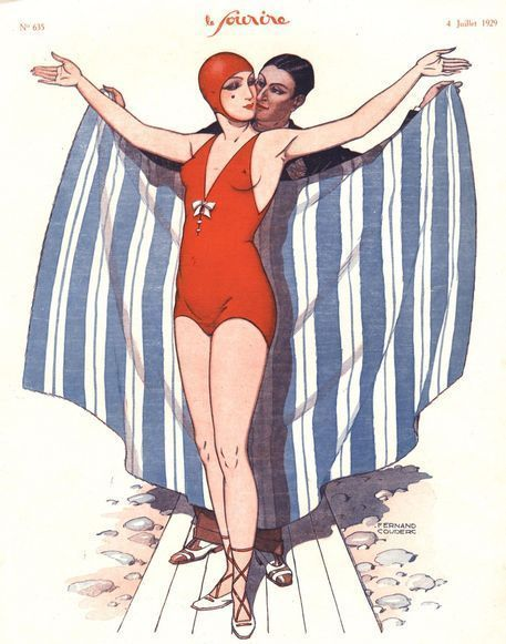 "poster art swimmers 1920s | Le Sourire, 1920s"" Picture art prints and posters by Advertising ..."
