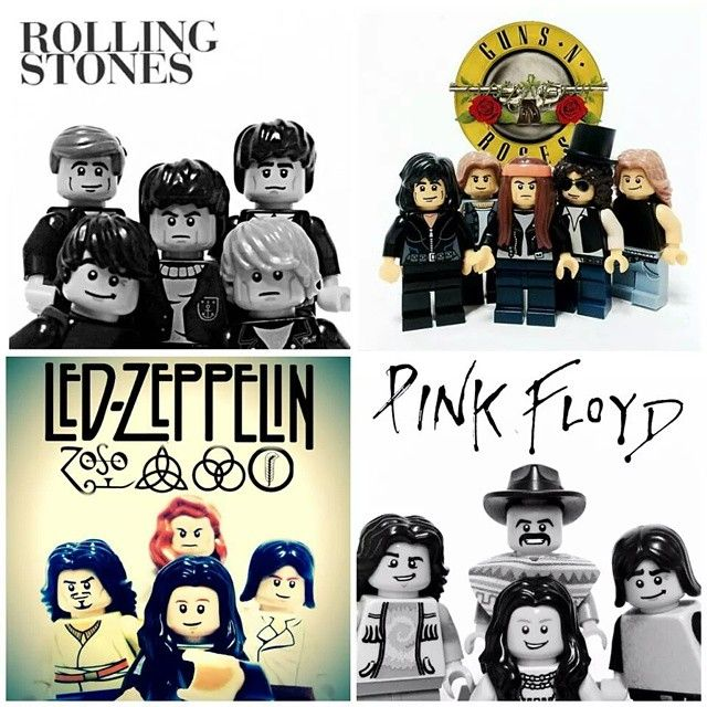 Rock art #rollingstones #gunsnroses #ledzeppelin #pinkfloyd #lego