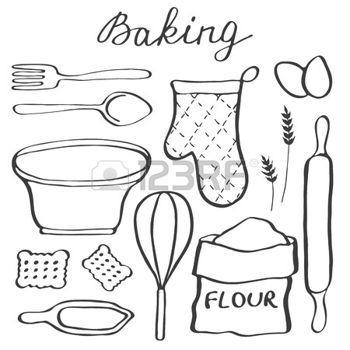 dessin ustensiles de cuisine banque d