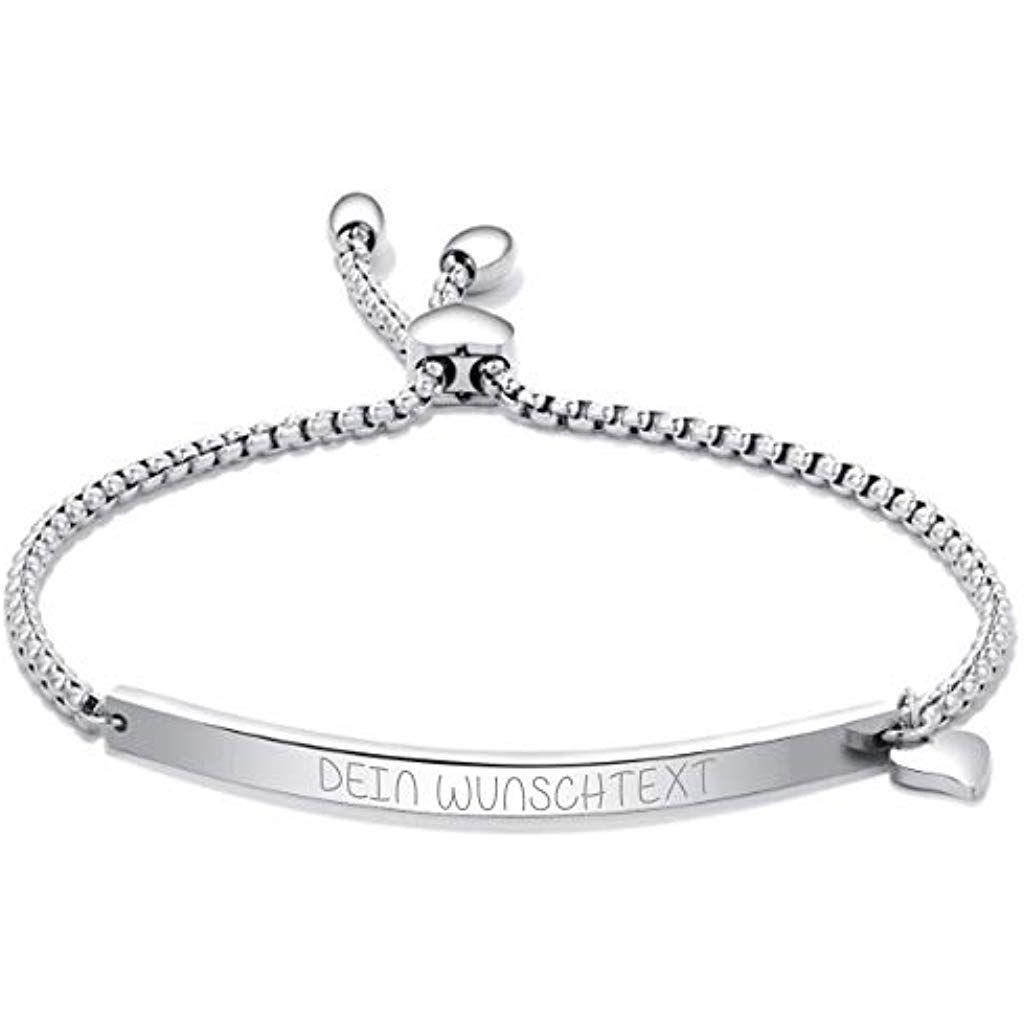 Lunapolaris® Halskette mit Anhänger in Gold und persönlicher Gravur