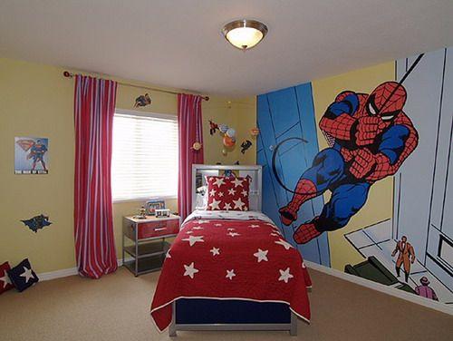 Customize Spiderman On Kids Bedroom Murals