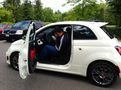 Tred's social media road show with Rairdon Fiat of Kirkland #abarth