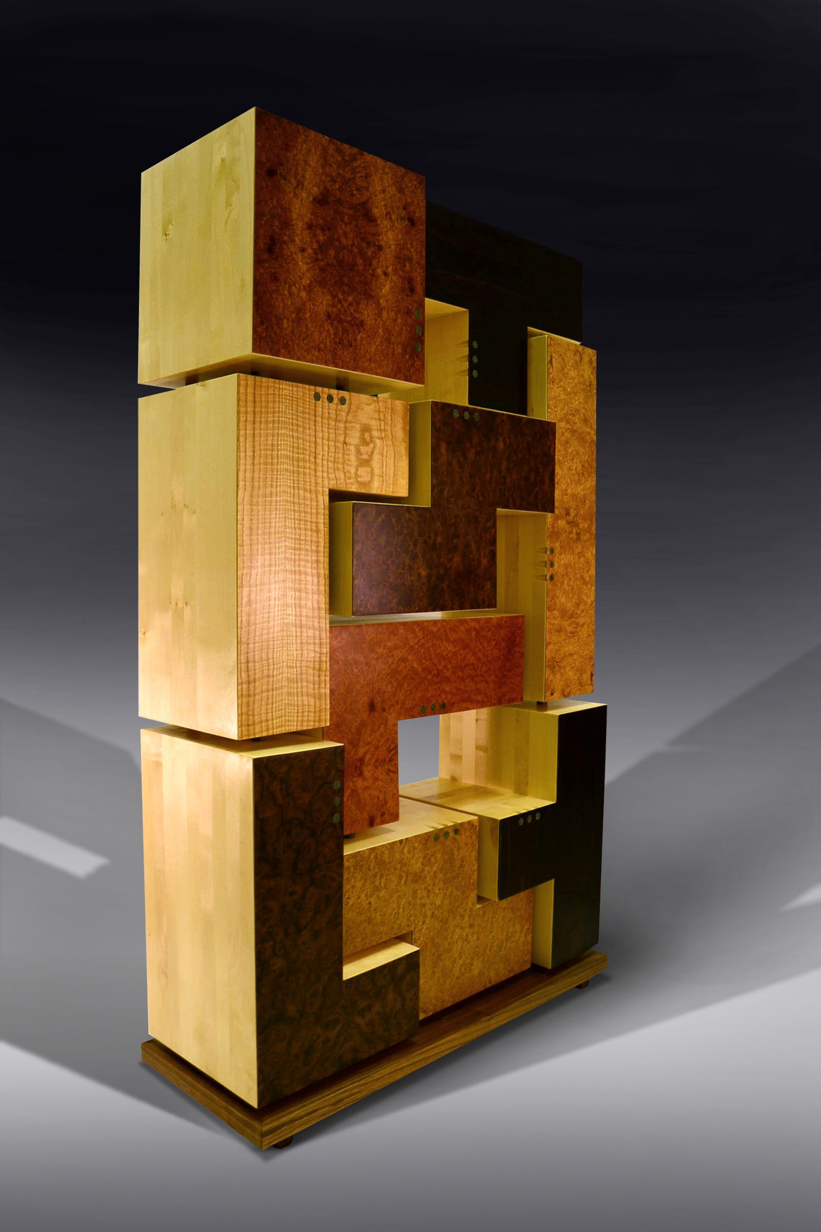 Tetris Cabinet   By Mos Bespoke Furniture. The Shapes In This Highly  Unusual Storage Cabinet Were Inspired By The Cult Computer Game Tetris. Design