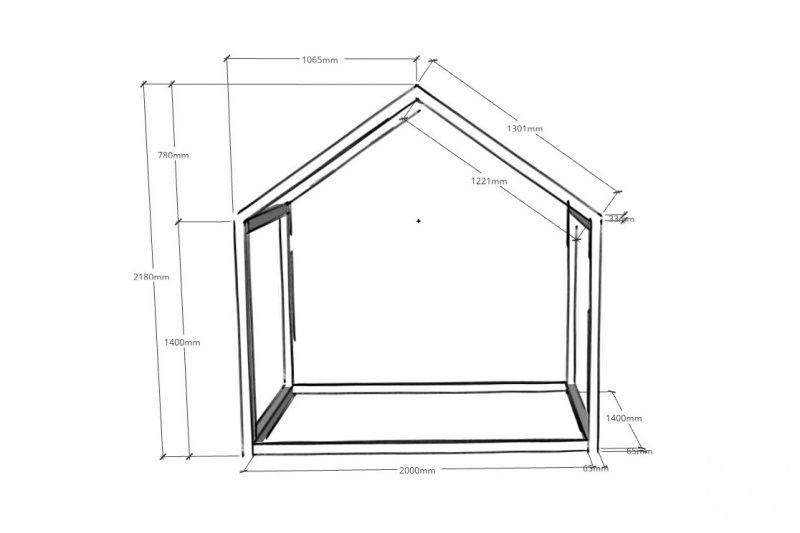 Xxl Hausbett Konstruktionsplan Bauzeichnung 140x200 Hausbett Kinder Bett Haus Hausbett Selber Bauen