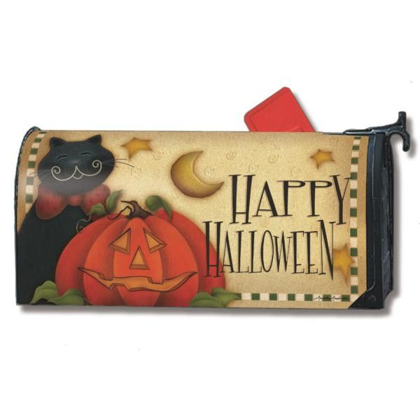 MailWraps ® Magnetic Mailbox Cover - Happy Halloween