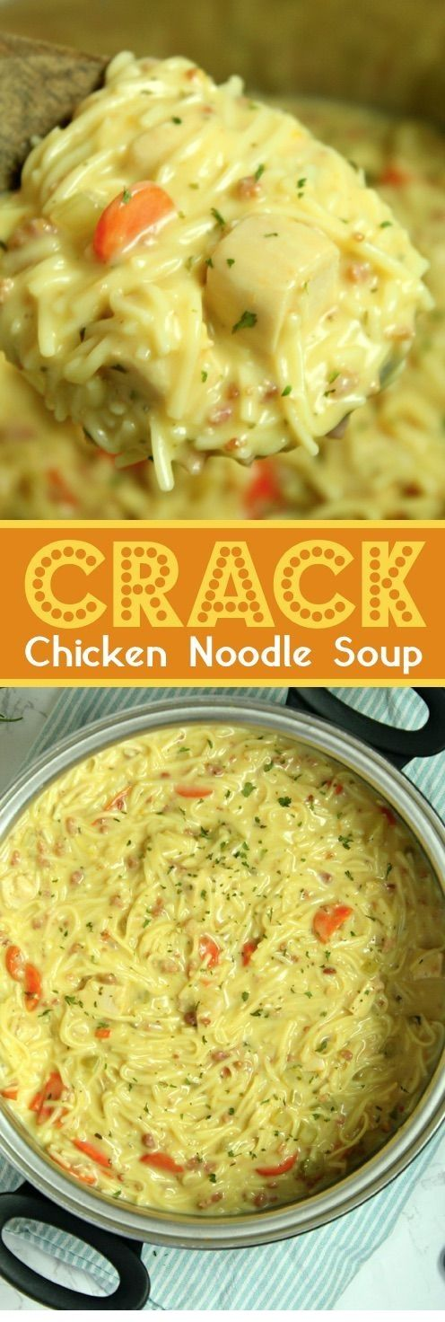 Crack Chicken Noodle Soup By myincrediblerecip… Delicious! Tasty! I want more …