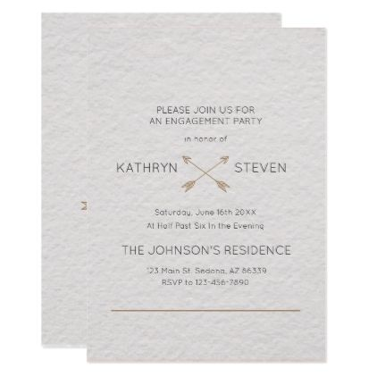 Monogram Simple Typography Engagement Card Engagement   Engagement Card  Template  Engagement Card Template