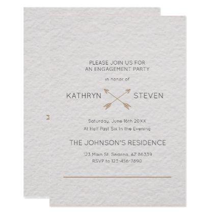 Monogram Simple Typography Engagement Card Engagement