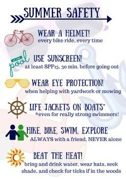 Summer Safety Tip Sheet For Students Counseling Summer