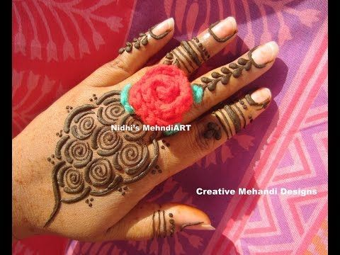 Mehndi Designs Rose : Youtube #new #fashionable #rose #gulf style #henna #mehndi #design