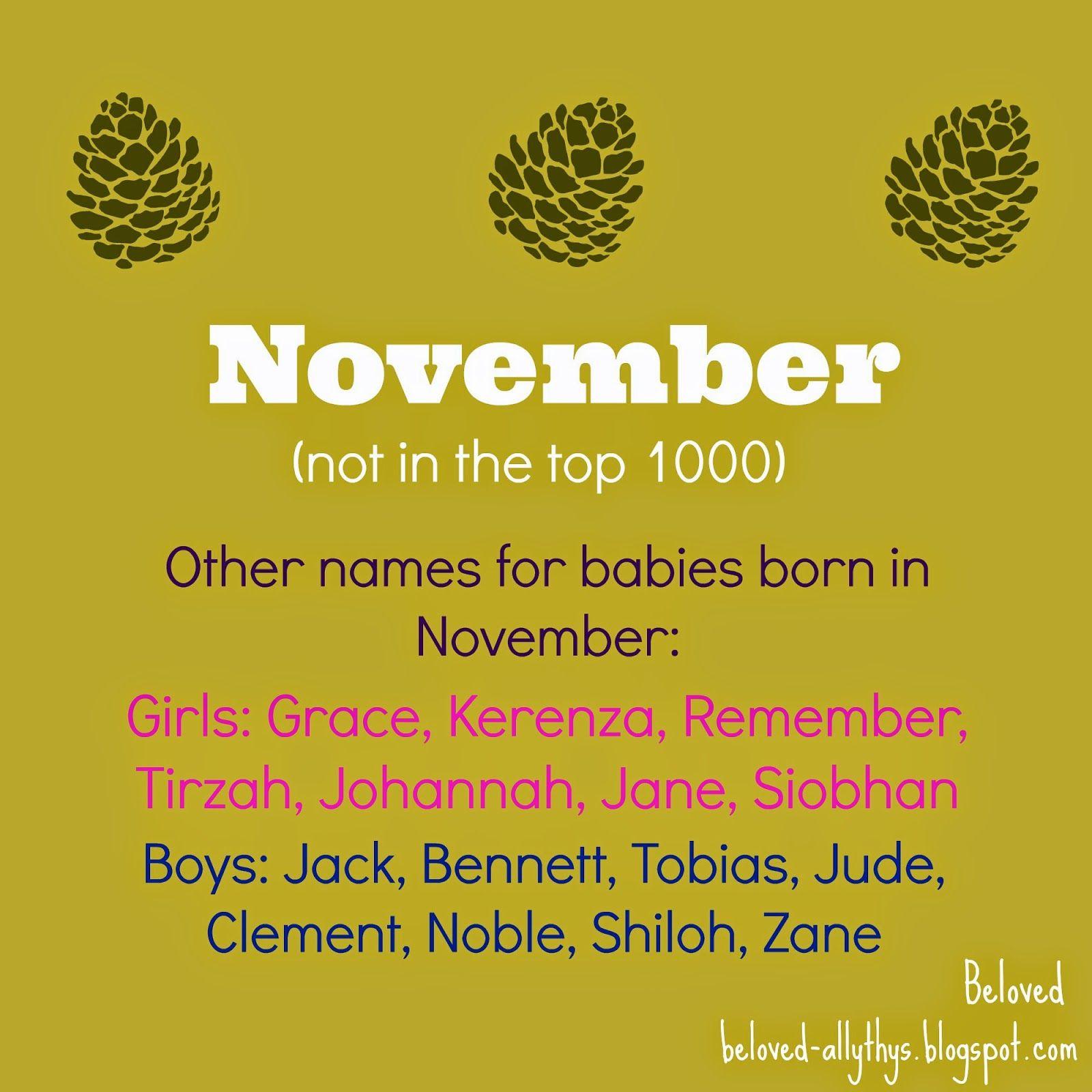 calendar names month and season names november november nn nova or ember
