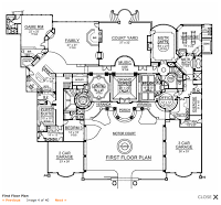 Luxury Homes Of The 1 9 000 Square Foot Mediterranean W Floor Plans Mediterranean Homes House Plans Courtyard House Plans