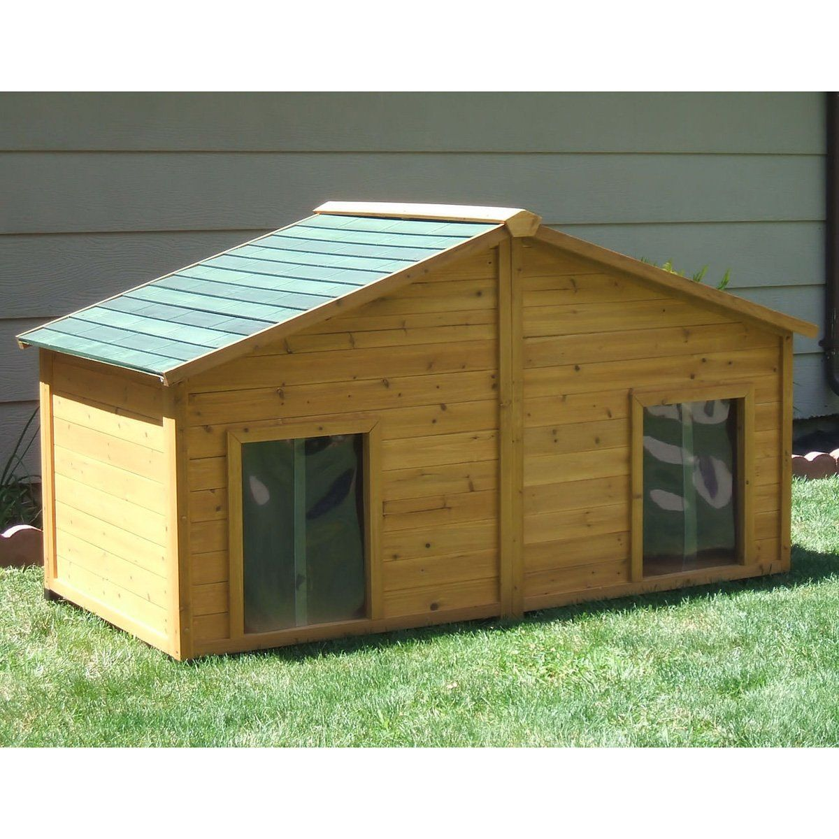 Have To Have It Simply Cedar Duplex Dog House With Optional Porch And Deck 829 99 Dog House Plans Dog House Diy Custom Dog Houses