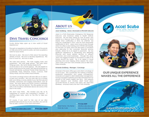 Brochure Design job – Scuba and health & safety training business brochure – Winning design by
